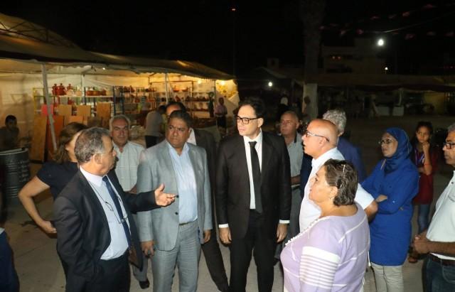 وزير الشؤون الثقافية  المشروع النموذجي المركز المتوسطي للفنون والثقافة والبيئة بالمعمورة
